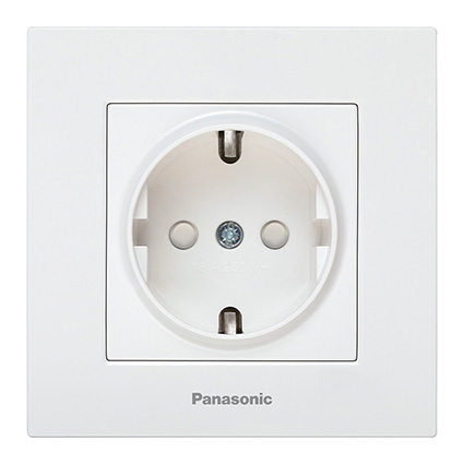 Socket 2P+E, With Safety Shutter, Complete WKTC0212-2WH