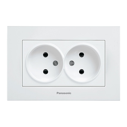 Double Socket 2P, Complete WKTC0204-2WH