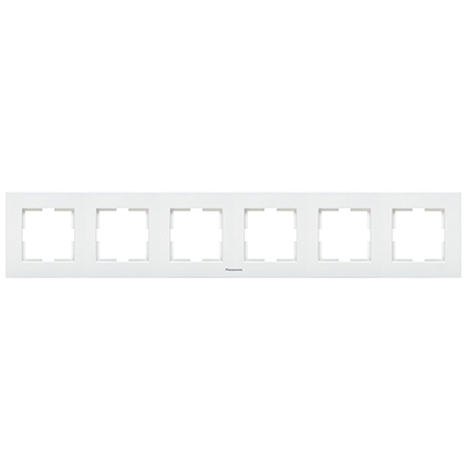 6 Gang Frame Horizontal  WKTF0806-2WH