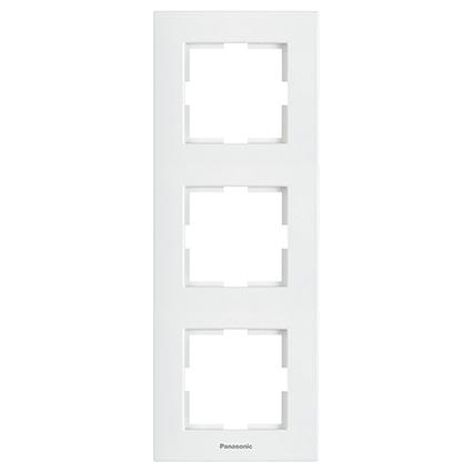 3 Gang Frame Vertical WKTF0813-2WH