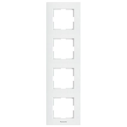 4 Gang Frame Vertical  WKTF0814-2WH