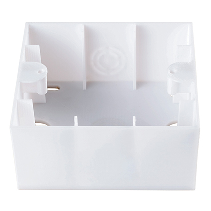 Surface Mounting Box, Single  WKTC0791-9WH