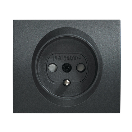 Socket 2P+E (French Type), With Safety Shutter, Cover WBTR0213-5DG