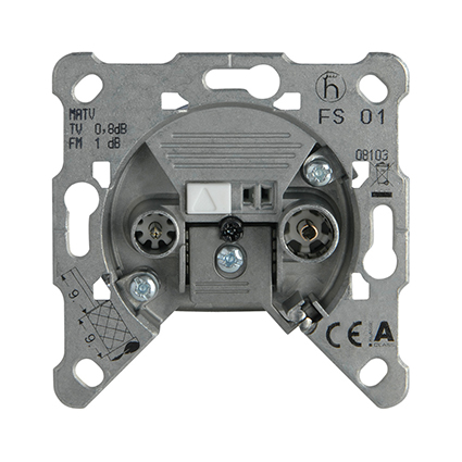 TV-Rad Socket, Terminated, Mechanism WBTM0455-5NC