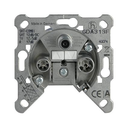 TV-Rad-SAT Socket, Through-pass, Mechanism WBTM0464-5NC