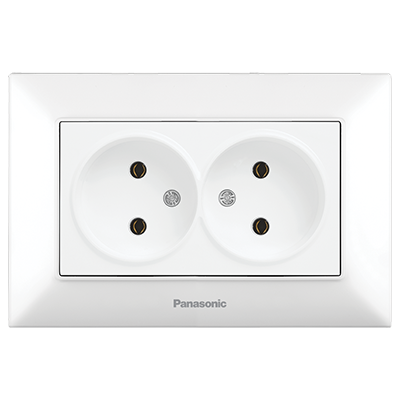 Double Socket 2P, Complete  WNTC02042WH