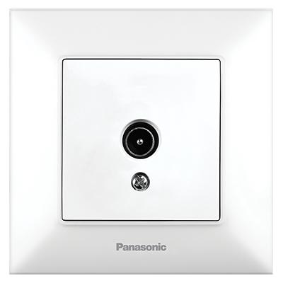 TV Socket, Through-pass (12dB), Complete  WNTC04522WH