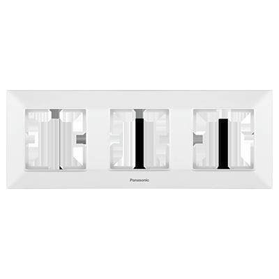 3 Gang Frame Horizontal  WNTF08032WH