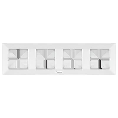 4 Gang Frame Horizontal  WNTF08042WH