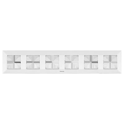 6 Gang Frame Horizontal  WNTF08062WH