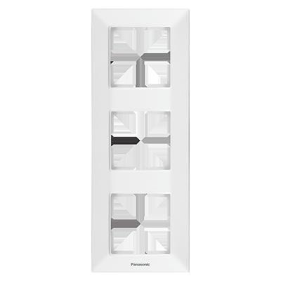 3 Gang Frame Vertical  WNTF08132WH