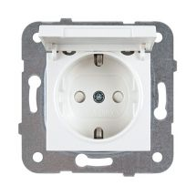 Socket 2P+E, With Lid and Safety Shutter, Mechanism+Cover