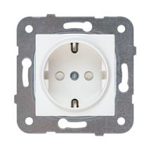 Socket 2P+E, With Safety Shutter, Mechanism+Cover