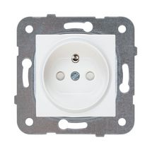 Socket 2P+E (French Type), Safety Shutter, Mechanism+Cover
