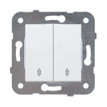 2-gang Two-way Switch, Mechanism+Cover