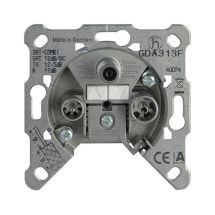 TV-Rad-SAT Socket, Terminated, Mechanism
