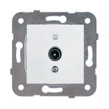 TV Socket, Terminated, Mechanism+Cover