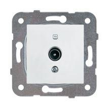 TV Socket, Through-pass (12dB), Mechanism+Cover
