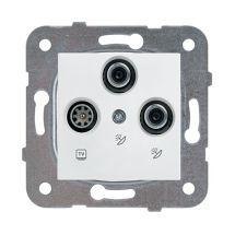 SAT-SAT-TV Socket, Terminated, Mechanism+Cover