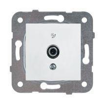 SAT Socket, Through-pass (10dB), Mechanism+Cover