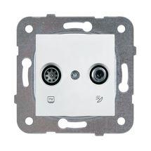 TV-SAT Socket, Terminated, Mechanism+Cover