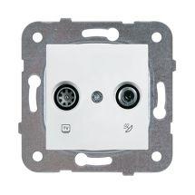 TV-SAT Socket, Through-pass (11dB), Mechanism+Cover